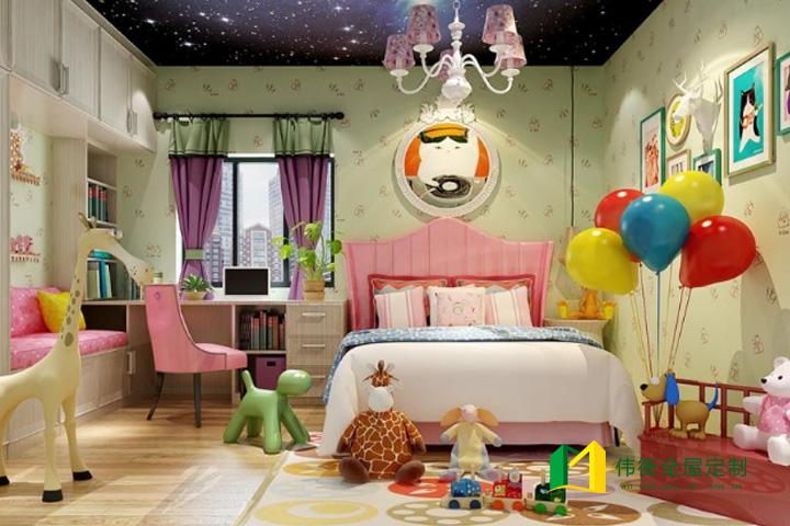 欧式风格女孩儿童房
